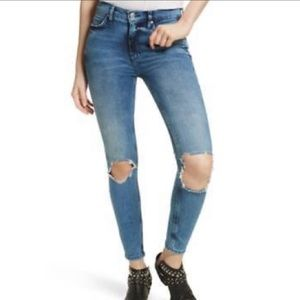 Free People Buster Knee High Rise Skinny Jeans NWT